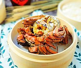 #快手又营养,我家的冬日必备菜品#很快的菜清蒸大闸蟹的做法
