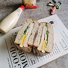 鸡排三明治#丘比三明治#