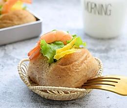 #硬核菜谱制作人#焦糖黑米早餐包的做法
