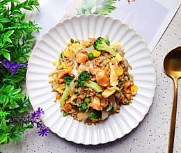 #秋天怎么吃#杂蔬鸡肉燕麦米炒饭的做法