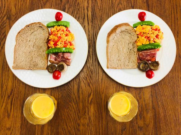 营养丰盛的家庭早餐