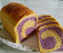 南瓜紫薯双色吐司的做法