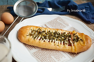 沙拉培根面包#丘比轻食厨神大赛#