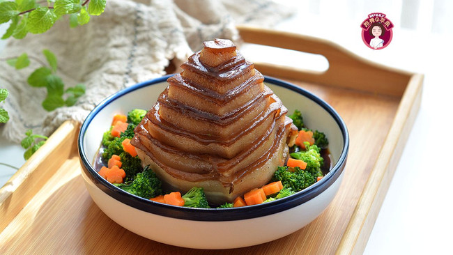 #舌尖上的端午#  竹笋宝塔肉的做法