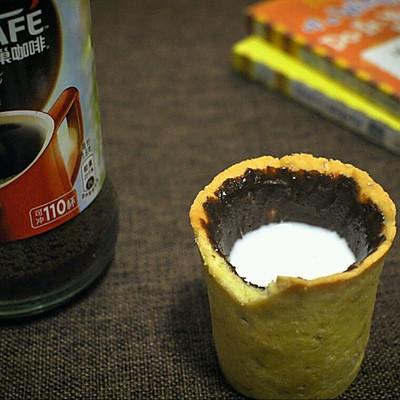 #变身咖啡大师之咖啡巧克力酱曲奇杯