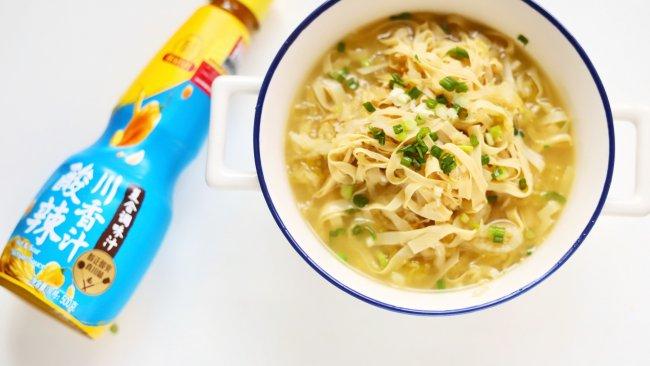 开胃下饭菜:酸菜豆腐皮#豪吉川香美味#的做法