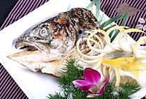 #我为奥运出食力#烤三文鱼头的做法