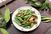 四季豆炒烧猪肉的做法