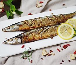 #精品菜谱挑战赛#特别好滋味--柠檬盐烤秋刀鱼的做法