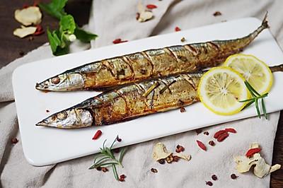 #精品菜谱挑战赛#特别好滋味--柠檬盐烤秋刀鱼