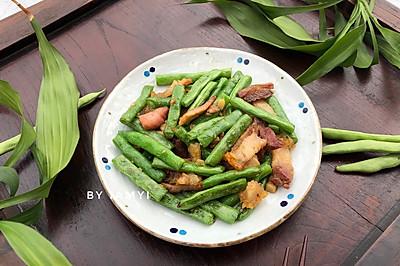 四季豆炒烧猪肉