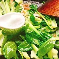 #节后清肠大作战#香菇炒油菜的做法图解4