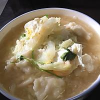 虾皮白菜疙瘩汤
