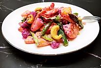 #美食视频挑战赛#初夏鲜虾蔬果沙拉的做法