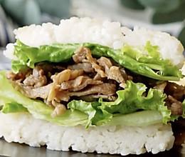 #全电厨王料理挑战赛热力开战!#牛肉米汉堡的做法