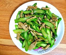 芦笋炒肉的做法