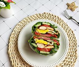 #美食视频挑战赛#关晓彤同款零碳水生菜三明治的做法