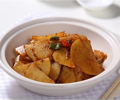 干锅土豆片---捷赛私房菜