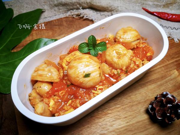 无米西红柿蘑菇鸡蛋烩饭~好吃低卡无负担的做法