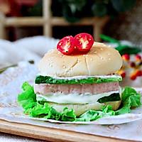 #秋天怎么吃#快手午餐肉黄瓜汉堡包的做法图解13