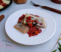 蛋奶软饼红粉果的做法