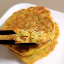 #宅家厨艺 全面来电#五彩鸡蛋饼+营养南瓜糊