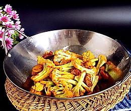 干锅花菜#春天不减肥,夏天肉堆堆#的做法