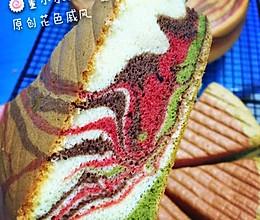 董小水(*´ڡ`࿉࿆࿆)之花色戚风#甜蜜厨神#的做法