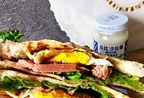 人人在家都可以做的鸡蛋火腿三明治的做法