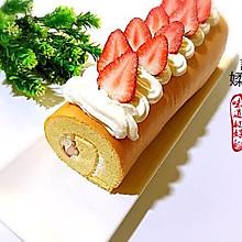 草莓夹心蛋糕卷#黑人牙膏一招制胜#