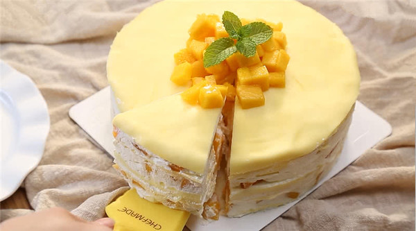 零基础做芒果千层蛋糕(8寸)