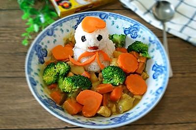 小雪人咖喱鸡肉饭