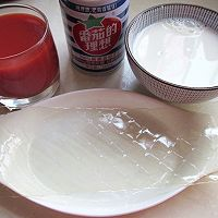 番茄汁双色果冻的做法图解1