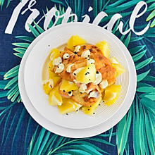 #美食视频挑战赛#菠萝油条虾
