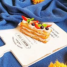 快手高颜值甜品【手抓饼版-草莓芋泥拿破仑】