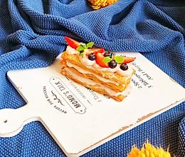 快手高颜值甜品【手抓饼版-草莓芋泥拿破仑】的做法