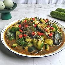#炎夏消暑就吃「它」#黄瓜拌皮蛋