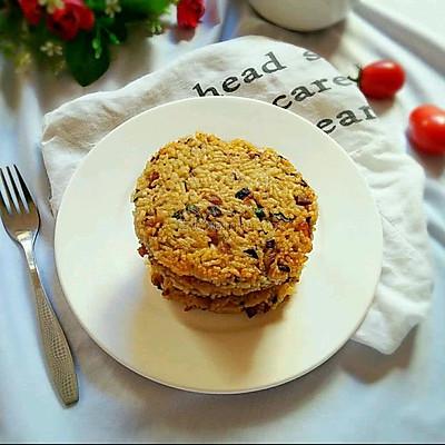肉未橄榄菜米饭饼
