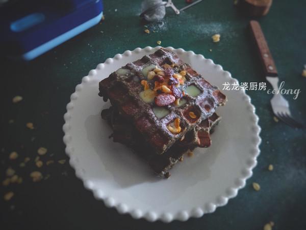 【花生黑芝麻华夫饼】吐司版的做法