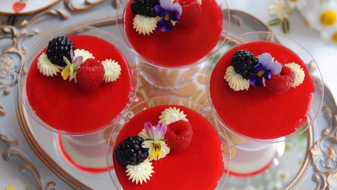 莓果双色芝士杯子蛋糕