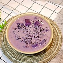#一道菜表白豆果美食#补血又健脾~黑米紫薯粥!