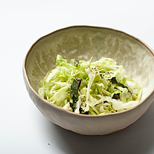 盐渍卷心菜沙拉-爽口快手菜-禁欲系日式料理,巧用盐烹煮食物