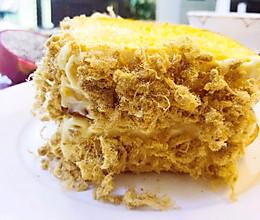 脆脆的吐司肉松蛋糕的做法