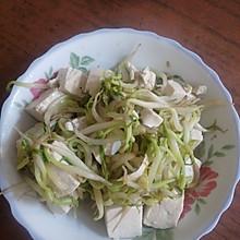 豆芽炒豆腐