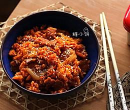【泡菜五花肉炒饭】的做法