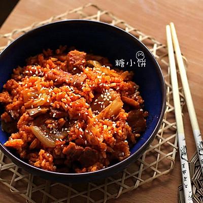 【泡菜五花肉炒饭】