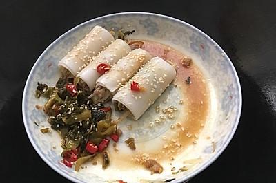 豆芽肉末粉卷