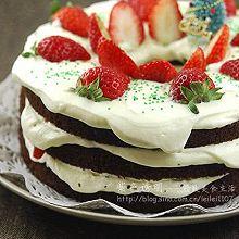 草莓巧克力雪景蛋糕