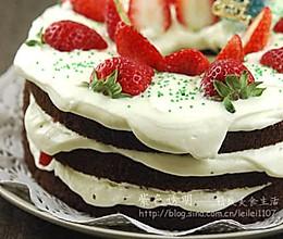 草莓巧克力雪景蛋糕的做法