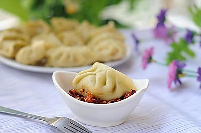 菜汁马蹄猪肉蒸饺